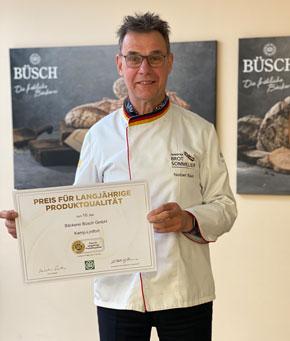 Norbert Büsch mit der zehnten Auszeichnung in Folge der Deutschen Landwirtschafts-Gesellschaft (DLG)
