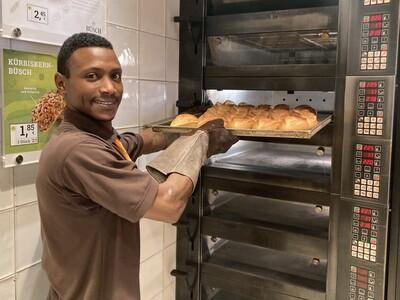 Bäckereifachverkäufer Ousmane Diallo